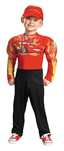 DISC0UNTST0RE Boys - Lightning McQueen Muscle 7-8 Halloween Costume - Child 7-8