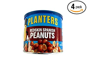 Planters Redskin Spanish Peanuts with Sea Salt 12.5oz Can (Pack