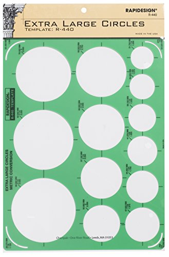 Rapidesign Extra Large Circles Template, 1 Each (Large Circles Template)