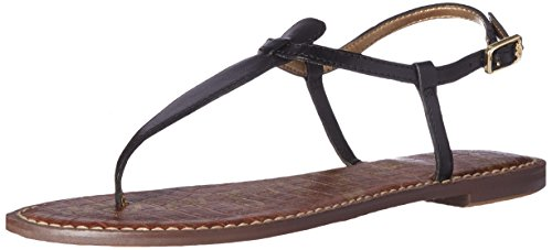 Sam Edelman Women's Gigi Thong Sandal, True Black Leather, 8 Medium US ()