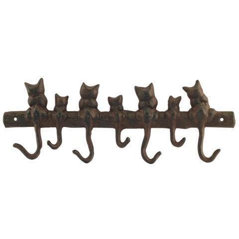 Guardaroba da parete con 7 ganci GATTI, ferro, 39 cm Signes Grimalt
