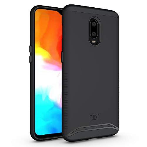 OnePlus 6T Case, TUDIA [Merge Series] Dual Layer Heavy Duty Reinforced Military Standard Extreme Drop Protection/Rugged with Slim Camera Precise Cutouts Phone Case for OnePlus 6T (Matte Black)