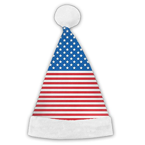 Philippine Festivals Costumes (Seasonlogo USA Flag American Flag Traditional Plush Christmas Santa Hat Costume Holiday Hats For Dinner Table Cutlery Holders)