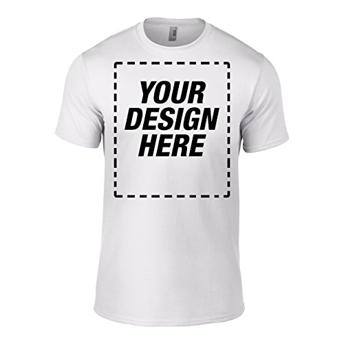 Custom Personalized t-shirt with your own design full color no minimums - White X-Large