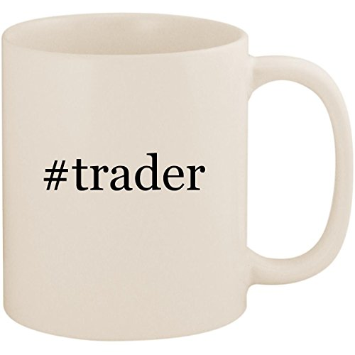 #trader - 11oz Ceramic Coffee Mug Cup, White