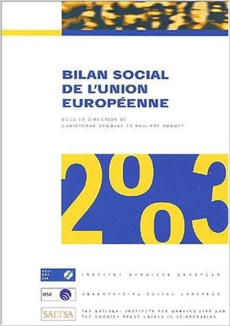Téléchargement Bilan social de l'Union européenne 2003 : Cinquième rapport annuel pdf ebook