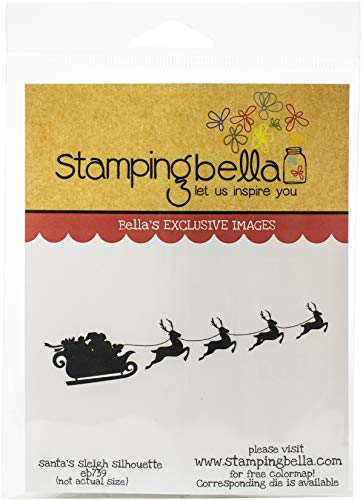 Stamping Bella EB739 Cling Stamps-Santa's Sleigh Silhouette -