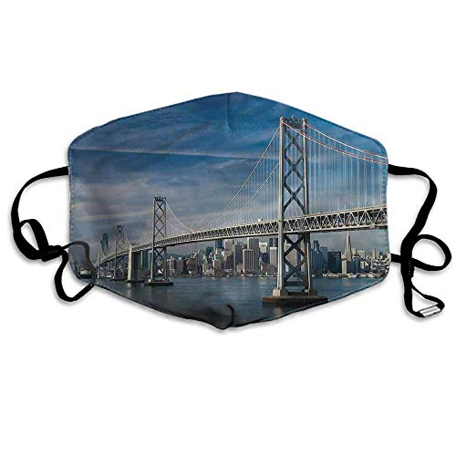 City Fashion Mouth Mask Historical Touristic Bridge for Cycling Camping Travel W4