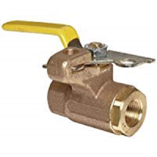 Apollo 75-100 Series Bronze Ball Valve, Two Piece, Inline, Lockable Lever, 1