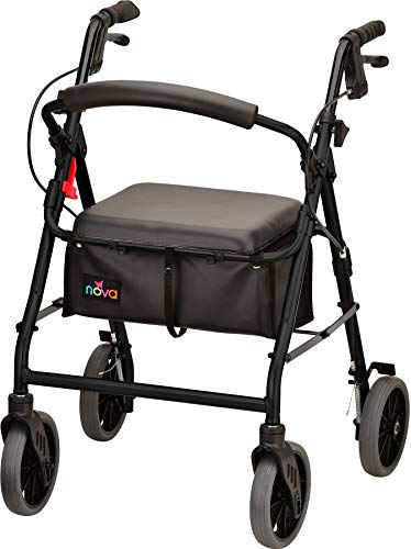 """NOVA Zoom Rollator Walker with 22"""" Seat Height, Black from NOVA Medical Products"""