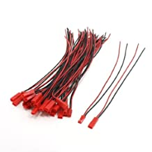 URBEST 10Pairs 2 Pins JST Male Female 22AWG 100mm Wire Plug Connector Kit for RC Plane Battery