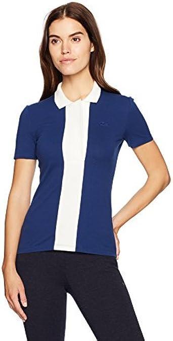 Lacoste Mujer PF7840-51 Camisa Polo - Azul - 38: Amazon.es: Ropa y accesorios