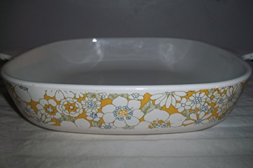 Corning Ware P-10-B Wrapped Floral Bouquet Baking Dish
