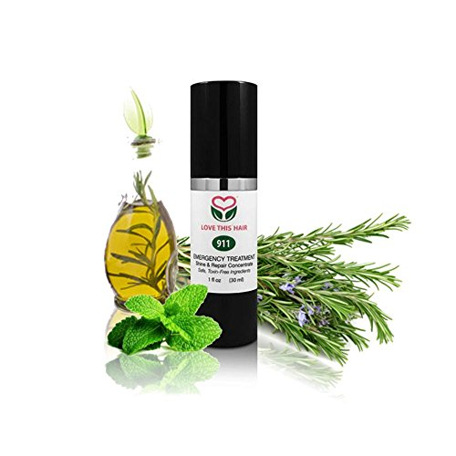 All Natural Hair Serum For Damaged Hair | 911 Emergency Treatment Hair Shine & Repair Serum | Hair Oil For Frizzy Hair | Hair Smoothing Serum Made With Rosemary & (Smoothing Shine Serum)