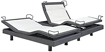 DynastyMattress Reverie 8-Series Adjustable Bed Base - Wireless - Bluetooth - Massage-Under Bed Lighting