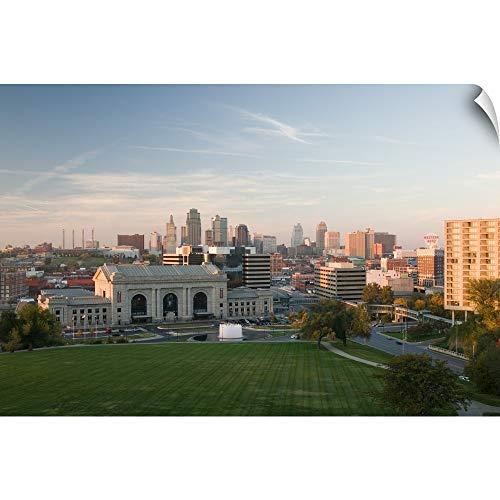 CANVAS ON DEMAND Missouri, Kansas City, Union Station and Kansas City Skyline Wall Peel Art Print, - Station Union City