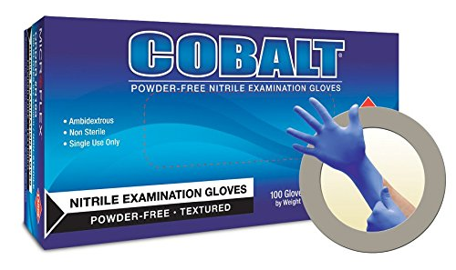 COBALT Powder-Free Examination Gloves S by Microflex
