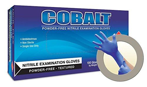 COBALT Powder-Free Examination Gloves L by Microflex