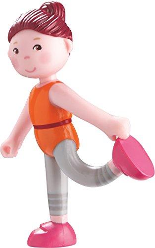 """HABA Little Friends Emma - 4"""" Bendy Figure with Auburn Hair in Workout Attire"""