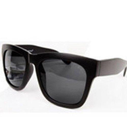 lentilles de vue de carrés lunettes Noir soleil Anti UV lunettes rétro adqpq