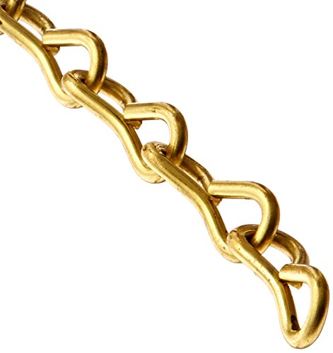 ASC MC22160601 Low Carbon Steel Single Jack Chain, Brass, #16 Trade, 0.06'' Diameter x 100' Length, 8 lbs Working Load Limit by Apex Tool Group