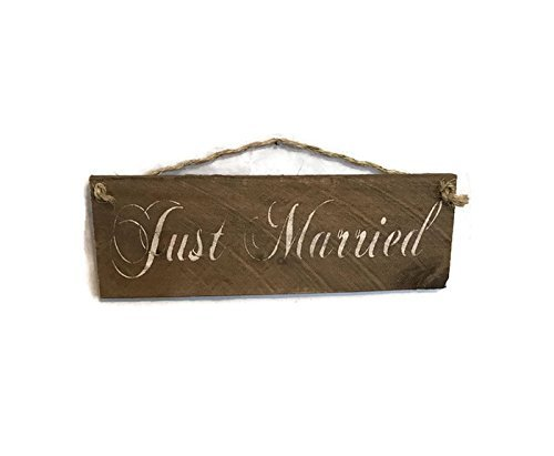 Just Married Pallet Wood Sign - Free Shipping