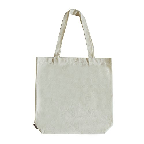 [Augbunny 100% Cotton Canvas 11-1/4- by 3- by 13-3/4-inch Grocery/Multipurpose Tote Bag, 2-Pack] (100% Cotton Canvas Bag)