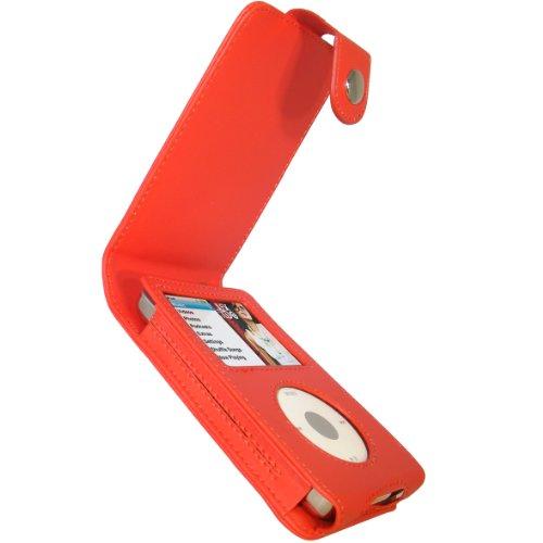 igadgitz PU Leder Tasche Schutzhülle Etui Case Hülle aufklappbar in Rot für Apple iPod Classic 80gb, 120gb und das neue 160gb (Ausgabe vom September 2009) + abnnehmbare Gürtelbefestigung + Display Schutzfolie