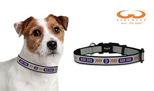MLB Boston Red Sox Baseball Pet Collar, Small, Reflective