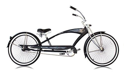 Micargi Bicycles Stretch Cruiser, PUMA GTS, Matte Black