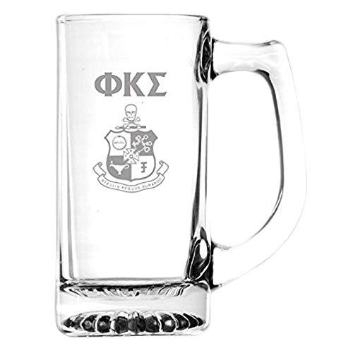 (Greekgear Phi Kappa Sigma Glass Engraved Mug Transparent)