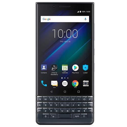 BlackBerry KEY2 LE (BBE-100-4) 64GB, Dual SIM, Dual 13MP+5MP Camera, 4GB RAM, GSM Unlocked International Model, No Warranty (Slate)