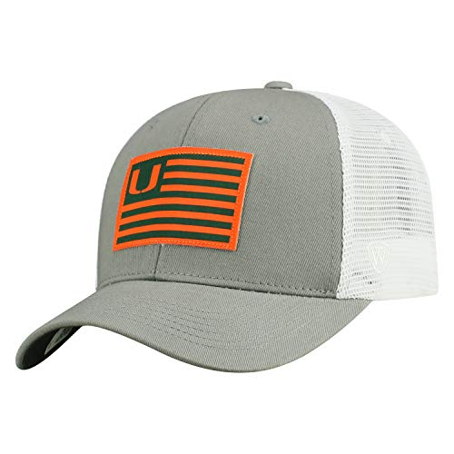Top Hat Miami - Tow Brave NCAA Miami Hurricanes Adjustable Meshback Hat