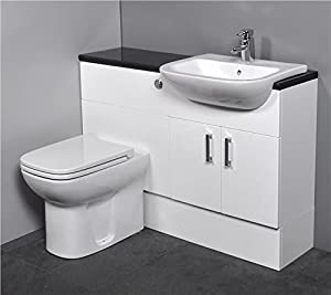 white gloss bathroom furniture gloss white fitted bathroom furniture 1100mm with basin 21539