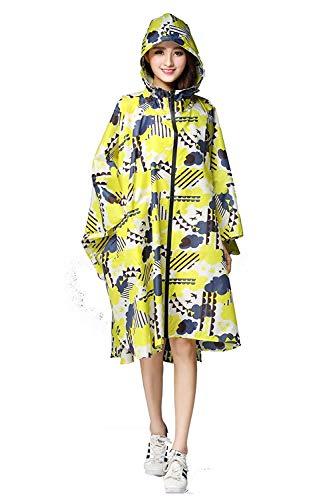 Motivo Raincape Impermeabile Donna Gelbe Pioggia Marca Eva Floreale Da Di Parka Bolawoo Trench Poncho Moto Mode Wolken L4ARj35q