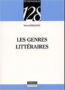 Les genres littéraires par Stalloni