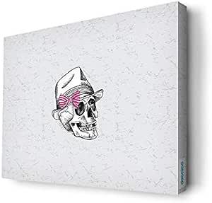 لوحة جدارية  كانفس تصميم جمجمه بقبعه، 60 x 45سم - 19030