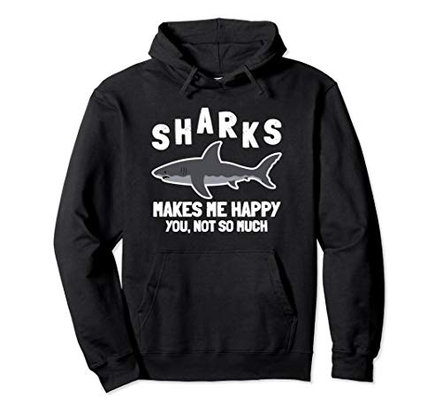 Shark Hoodie Make Me Happy Party Gift Idea Costume Women Men ()