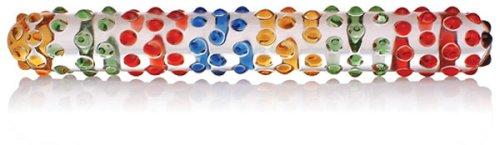 Don Wand Glass Pleasure Wand - Rainbow Mege Nubby