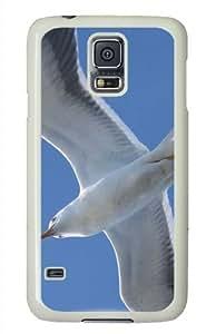 Customized Samsung Galaxy S5 White Edge PC Personalized White Seagull 2 Cover doudou's case