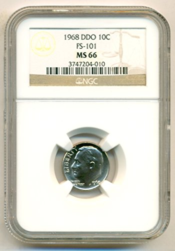 1968 Roosevelt DDO Variety FS-101 Dime MS66 NGC