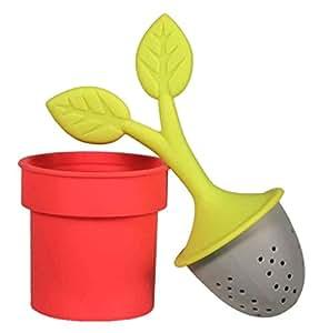 Tea Leaves Tea Infuser  (Colors vary - red or green)