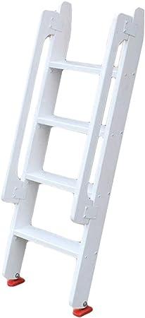 Ladder stool Escalera de Madera de 4 peldaños, Color Blanco, Escalera Recta con pasamanos: Amazon.es: Hogar