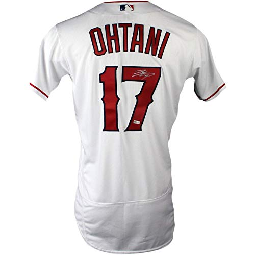 2018 Anaheim Angels - Shohei Ohtani Signed Los Angeles Angels of Anaheim 2018 Authentic White Jersey (MLB Authenticated) (Silver Signature) - Steiner Sports Certified