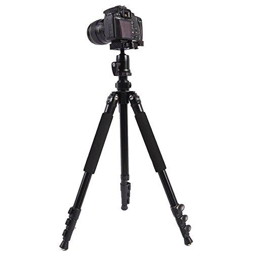 カメラ三脚 Triopo C-158+KJ-1 調節可能なポータブルアルミ合金三脚   B07L4NK58B