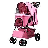 Dixinla Pet StrollerPortable Folding Trolley Dog Out cart