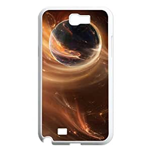 Great Abstract Space Case For Samsung Galaxy Note 2 White
