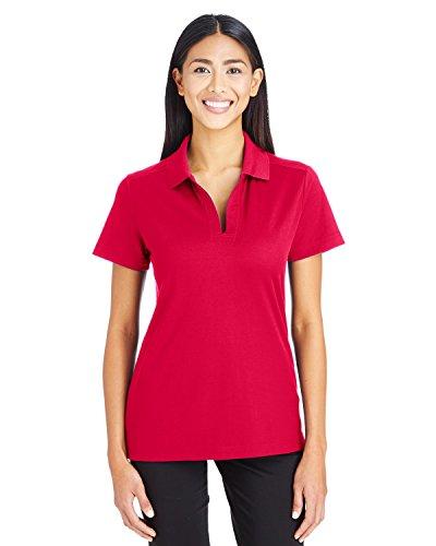 Devon & Jones Women's Crownlux Performance Plaited Polo, Red, X-Large Devon And Jones Cotton Shirt
