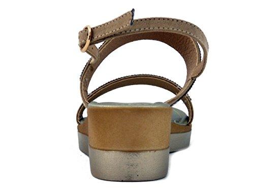 4cm E Strass In Ecocamoscio Pericoli Sandalo Soft 19540 Beige Zeppa Osvaldo Cinzia ZFHqwp
