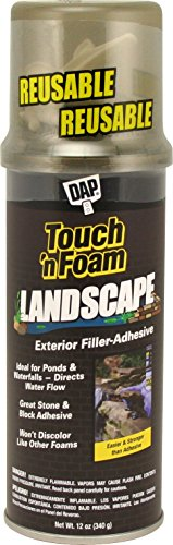Black Pond Foam (Dap 40440 12 oz. Touch 'n Foam Landscape Exterior Filler Adhesive, Black)